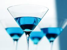 """Blue cocktails are among those suggested by award-winning mixologist Charlotte Voisey for a royal wedding viewing party -- to go with the classic theme, """"serving something old, something new, something borrowed and something blue"""
