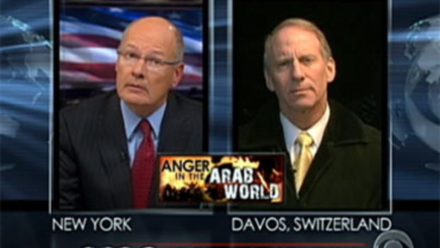 CBS News' Harry Smith talks about Egypt with Council on Foreign Relations President Richard Haas Jan. 28, 2011.