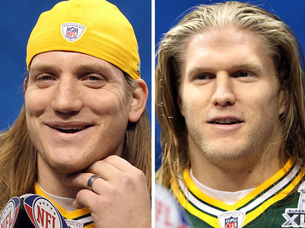 A.J. Hawk, left and Clay Matthews of the Green Bay Packers.