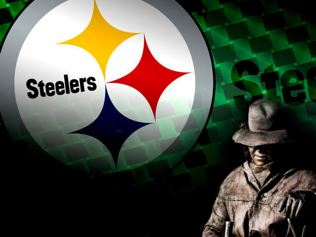 steelworker over Steelers logo