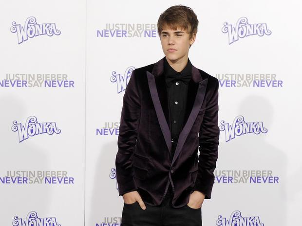Justin Bieber at LA film premiere