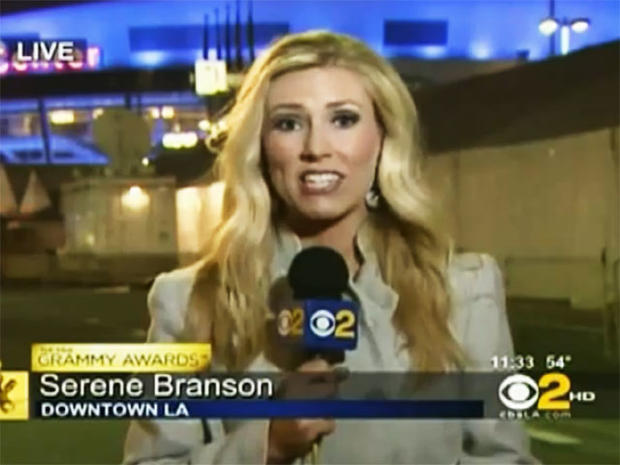 Serene Branson reports after the 2011 Grammy Awards in Los Angeles, Calif on Feb. 14, 2011.
