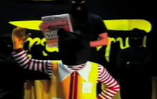 Ronald McDonald Decapitated by Food Activists