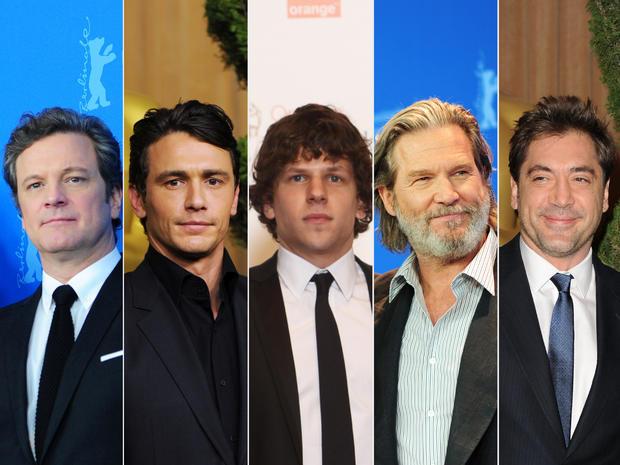 Colin Firth, Jeff Bridges, Jesse Eisenberg, James Franco and Javier Bardem