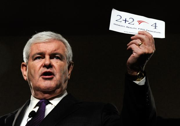 Newt Gingrich on the campaign trail