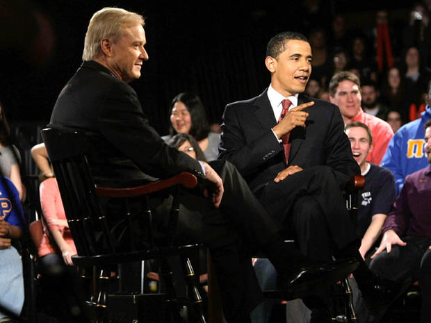 Chris Matthews and Barack Obama