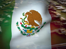 Mexico flag over Handguns