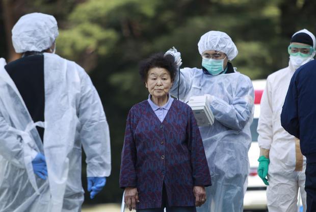 Residents checked for radiation contamination near Fukushima plant