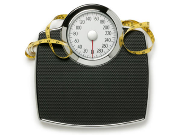 Scale, measuring tape, diet, lose weight