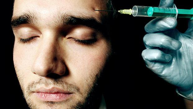 botox, plastic surgery, cosmetic surgery, man, needle, stock, 4x3