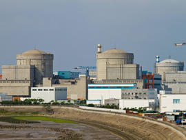 Qinshan nuclear power plant in Haiyan, China