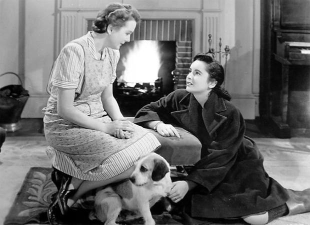Elizabeth Taylor with Mary Astor