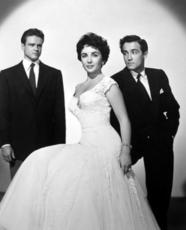 John Ericson, Elizabeth Taylor and Vittorio Gassman