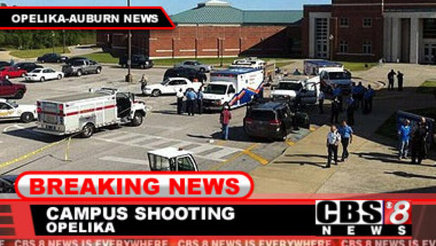 One dead, several hurt in shooting at Southern Union Community College in Alabama - CBS News