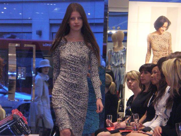 L.K. Bennett Model in Leopard Dress