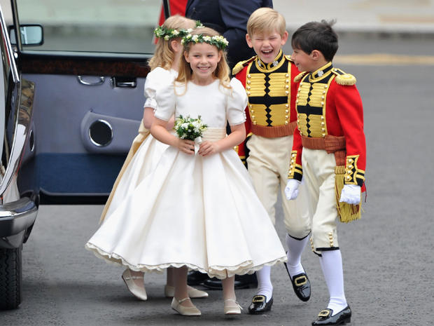 The bridesmaids and pageboys