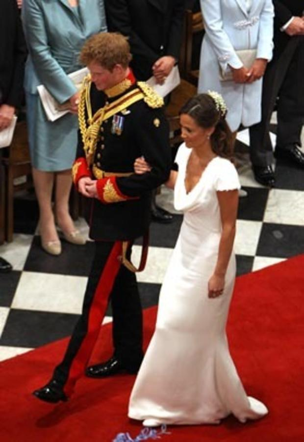 LONDON, ENGLAND - APRIL 29: Prince Harry and Pippa Middleton are seen inside of Westminster Abbey on April 29, 2011 in London, England. The marriage of the second in line to the British throne is to be led by the Archbishop of Canterbury and will be atten