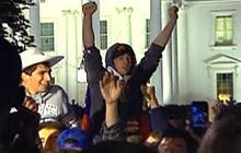 Crowd celebrates Osama bin Laden's death