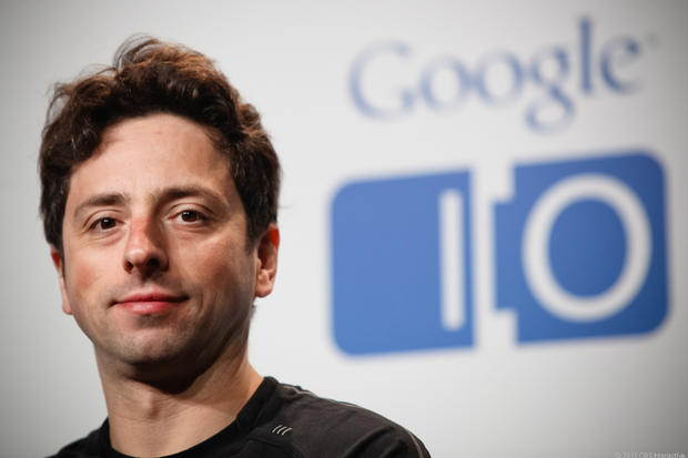 Sergey Brin at the press conference
