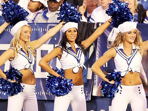 Colts cheerleader sues after being fired for nude photos