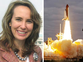 Gabrielle Giffords, space shuttle Endeavour