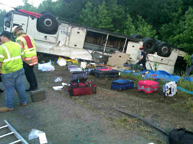 Driver charged in Va. bus crash that killed 4, hurt dozens