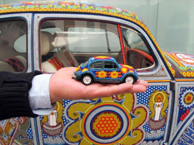 VW Bug with Bead Art