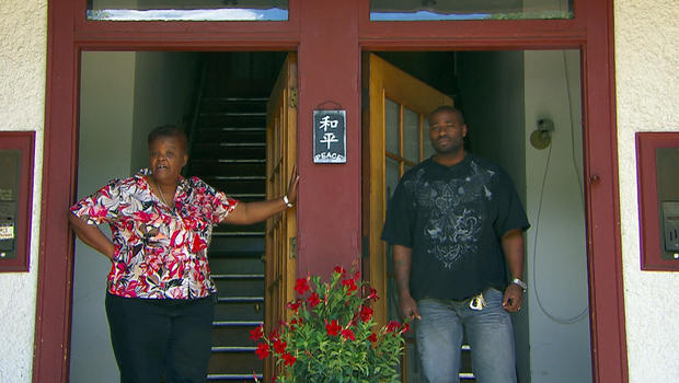 Mary Johnson, (left)now lives next door to Oshea Israel who served 17 years for killing her son.