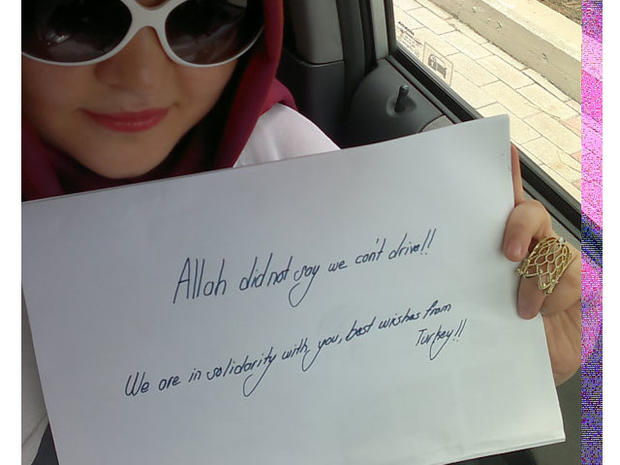 Supporting Saudi women driving