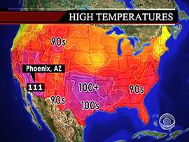 Temperatures map