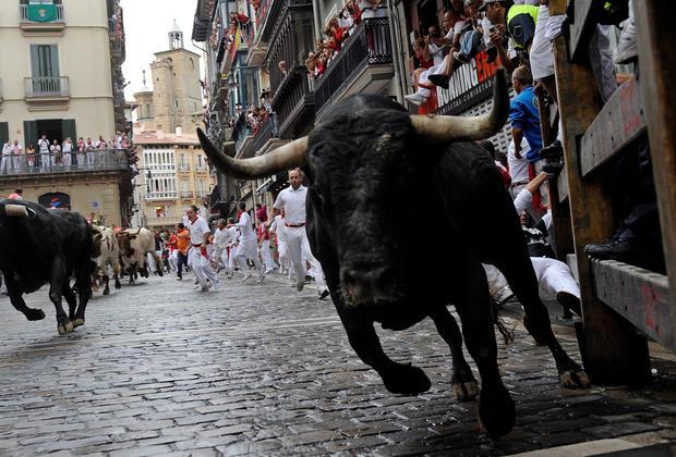 Pamplona's running of the bulls