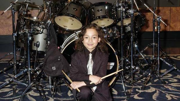 mich boy is worlds youngest pro drummer cbs news