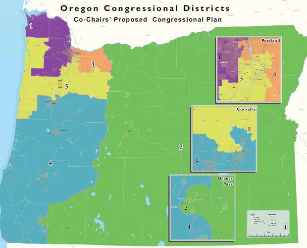 Oregon congressional district map