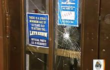 Letterman's studio doors smashed again