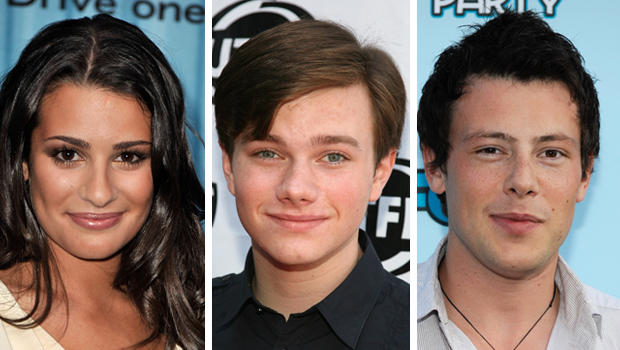 Lea Michele, Chris Colfer and Cory Monteith.