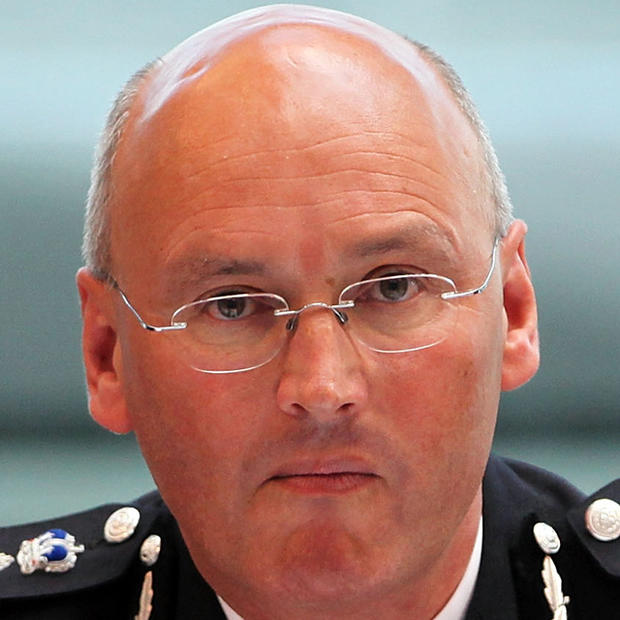 Sir Paul Stephenson, commissioner of Britain's Metropolitan Police, also known as Scotland Yard, meets with London Mayor Boris Johnson and members of the Metropolitan Police Authority at City Hall May 28, 2009, in London. Photo credit: Getty Images