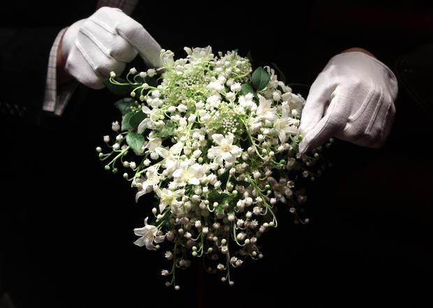 Kate Middleton wedding dress, up-close