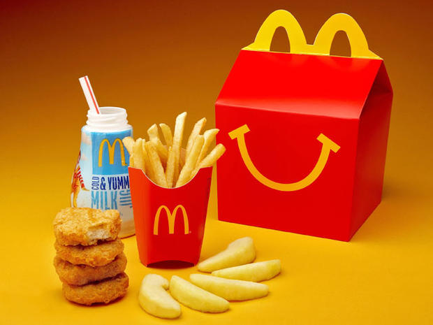 McDonald's, happy meal, fries, apple slices