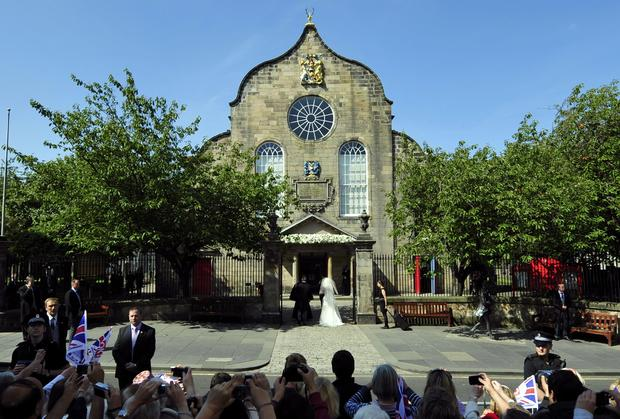 Royal wedding in Scotland