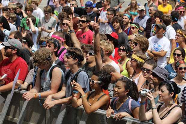 Fans at Lollapalooza 2011