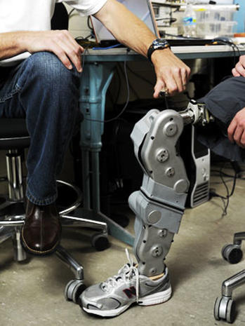 Shark attack victim gets bionic leg