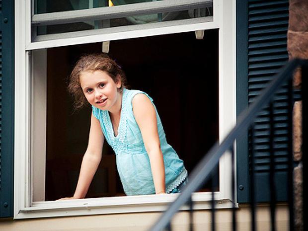 girl, window, child, 4x3, stock