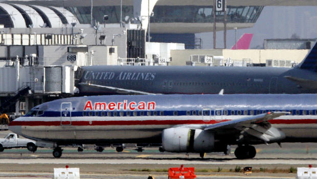 American Airlines Boeing 737 at LAX