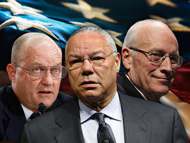 Lawrence Wilkerson, Colin Powell and Dick Cheney