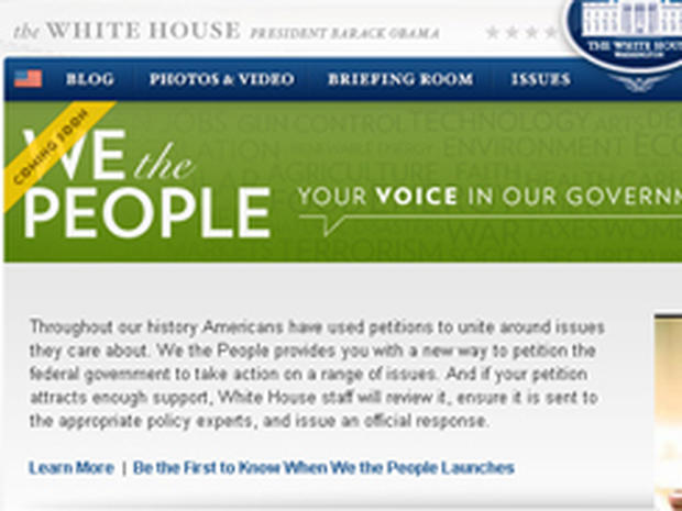 white house, we the people
