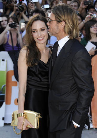 "Angelina, Brad play ""Moneyball"" at Toronto"
