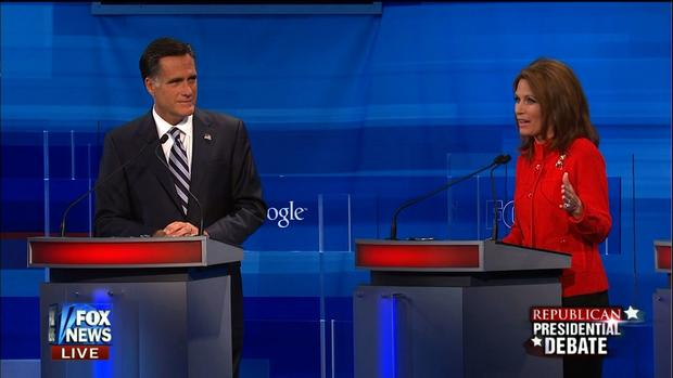 Michele Bachmann and Mitt Romney