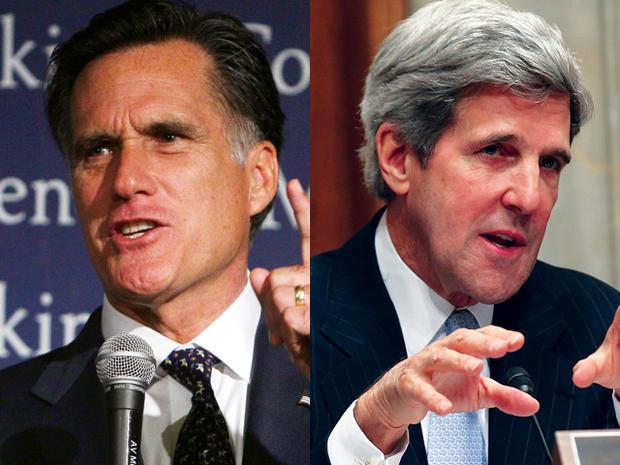 Mitt Romney and John Kerry