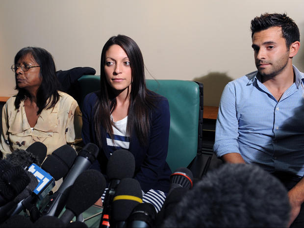 Meredith Kercher's mother Arline, sister Stephanie and brother Lyle