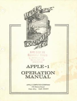 Apple-1 Operation Manual